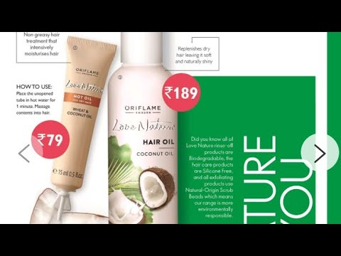Oriflame (Love Nature) coconut hair oil details - YouTube