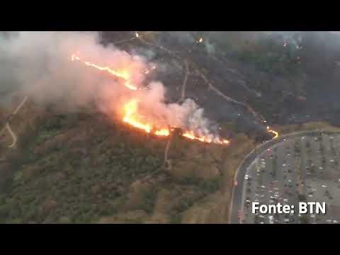 Incêndio de grandes proporções na Cidade Administrativa - outubro de 2019 - Jornal Norte Livre