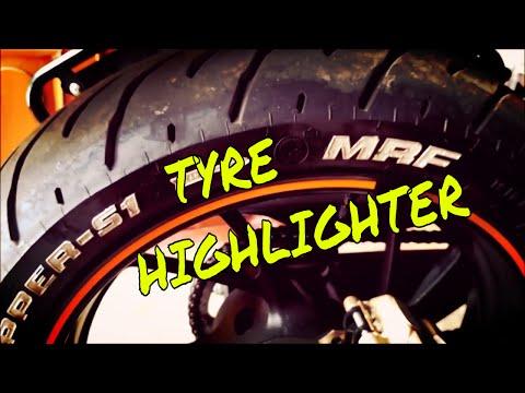 HORNET 160r SIMPLE MODIFICATION | TYRE HIGHLIGHTER| Part 1