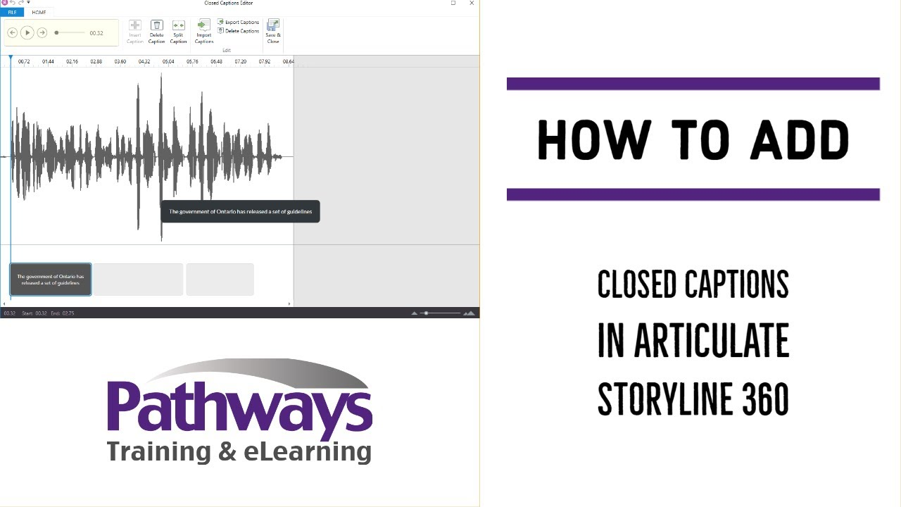 How to easily add Closed Captions to your eLearning module