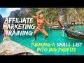 Affiliate Marketing Training - Turn A Small List Into BIG Profits In 4 Easy Steps