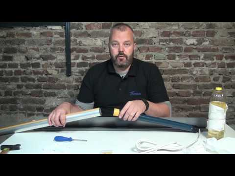 How to make your own electric roller blind with the Somfy Sonesse 40 WT or RTS (220 / 110 V)