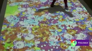 видео Интерактивный пол для детей в детских садах