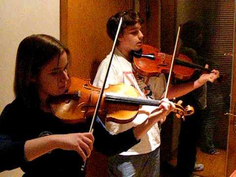 Handel Halvorsen Passacaglia Violin Viola Duet, Eboyinc, students 1st rehearsal
