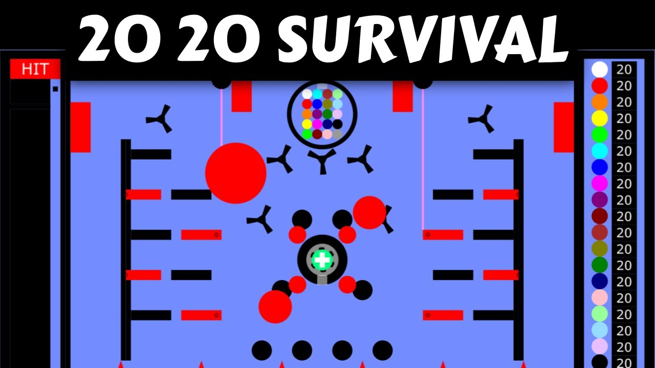 2020 Survival Marble Race (by Algodoo)