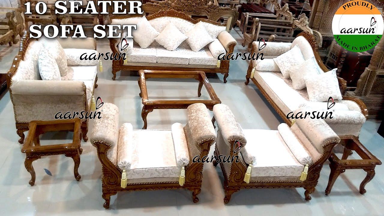 134 Teak Wood Sofa Set 10 Seater Top Furniture Premium Design Factory Price By Aarsun Youtube