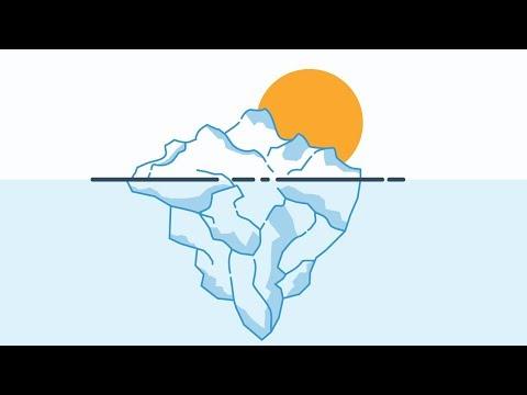 Iceberg (Flat design) - Illustrator Speed Art
