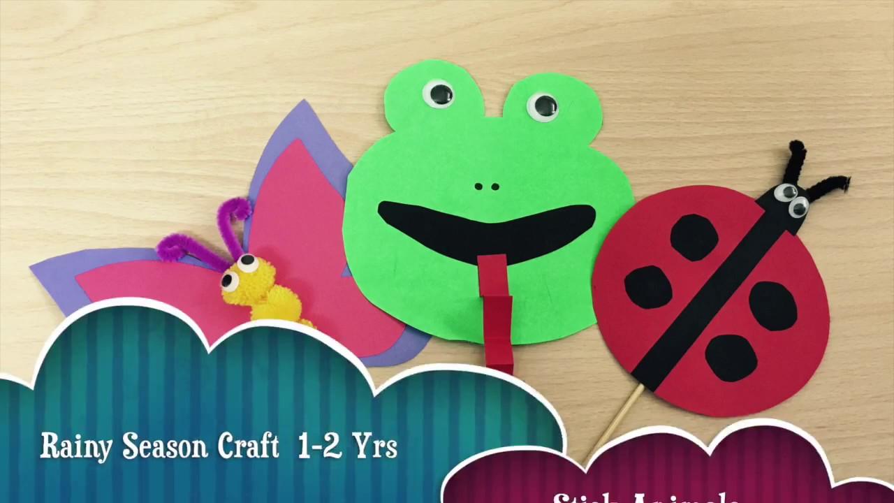 Rentoys Craft Activity Kit Rainy Season Theme 1 2 Yr Old Youtube