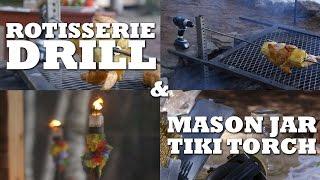 DIY Tiki Torch & Drill Powered Rotisserie