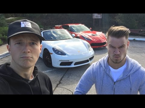 Porsche 718 Boxster vs Z06: Race To Palm Springs