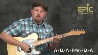 Learn guitar song lesson modern country Drink In My Hand by Eric Church chords lead solo all parts