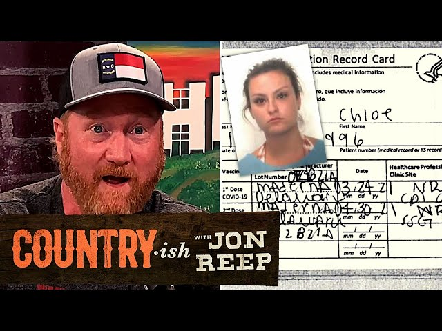 Illinois Woman Caught With Fake 'MADERNA' Vaccine Card!   Country·ish with Jon Reep