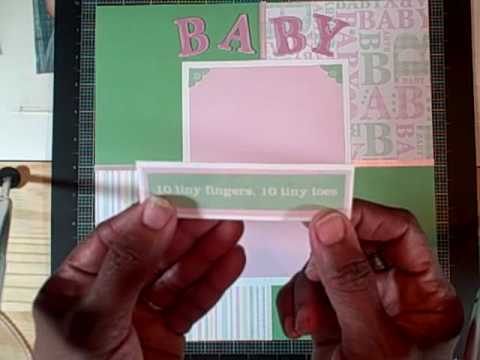 Simple Baby Scrapbook Layout Youtube