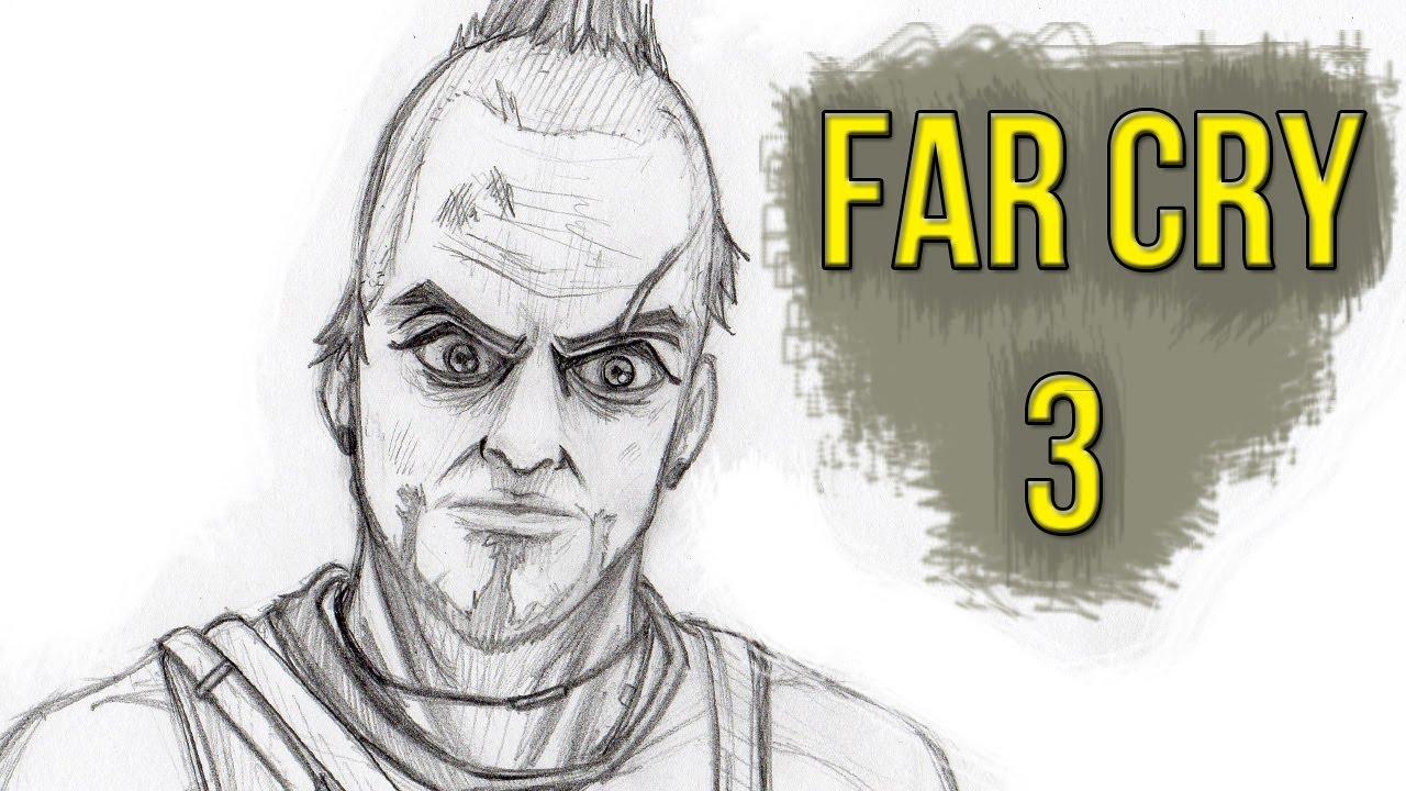 Far Cry 4 Colouring Pictures : Dibujando a: Vaas (FAR CRY 3) YouTube