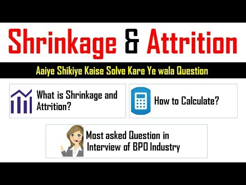 How to calculate Shrinkage and Attrition rate Formula in