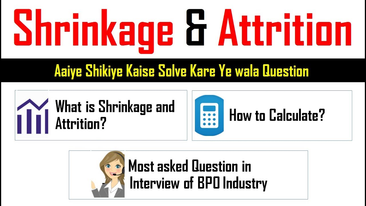 How to calculate Shrinkage and Attrition rate Formula in Excel Hindi