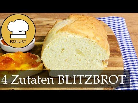 BLITZBROT mit nur 4 Zutaten   Ruck Zuck Brot