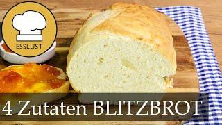 BLITZBROT mit nur 4 Zutaten | Ruck Zuck Brot