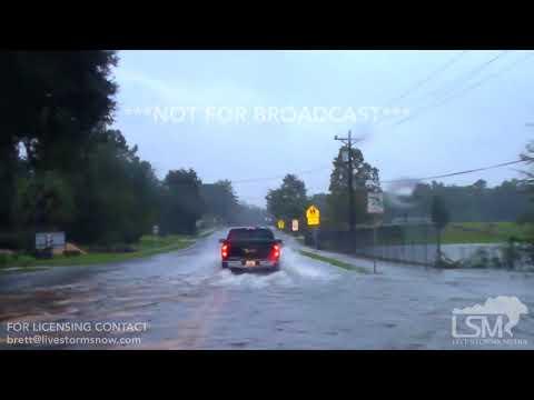 09-11-2017 Lake City, Florida - Hurricane Irma flooding and trees down