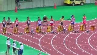 H29年度 学校総合 埼玉県大会 中学3年男子100m決勝 thumbnail