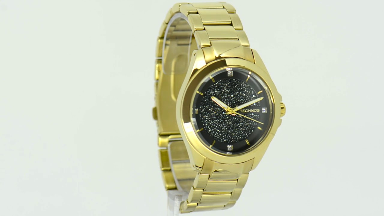 Relógio Technos Feminino Elegance Crystal Swarovski 203AAA 4P - Eclock eb171e5259