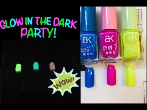 Banggood BK Fluorescent Neon GLOW IN THE DARK Polishes Review