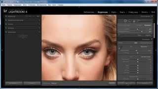 Как редактировать фото ретушь в Lightroom 4 убирать прыщи Лайтрум