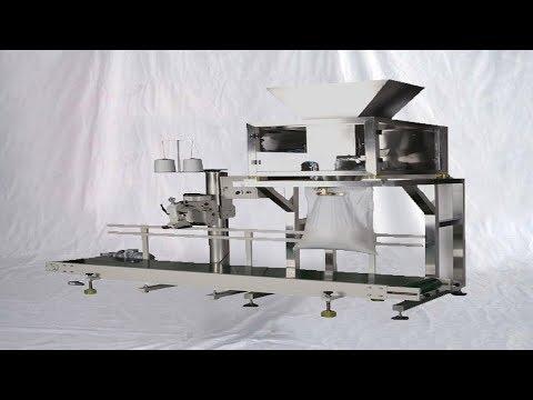 Automatic 25kg Powder Kraft Bags Filling Sewing Packaging Line Bagging Equipment آلة تعبئة بودرة