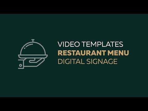 Video Templates Restaurant Food Menu Promo Radodar Com