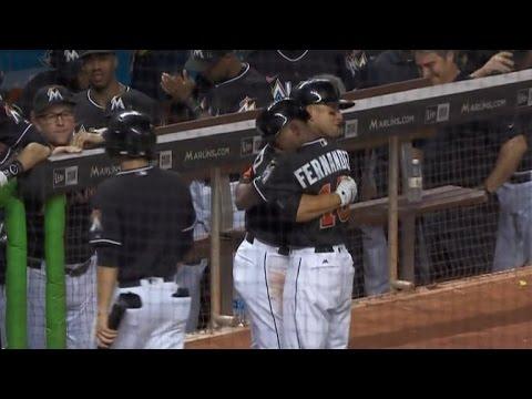 Friend of Jose Fernandez Burst Into Tears Hitting Home Run After Field Tribute