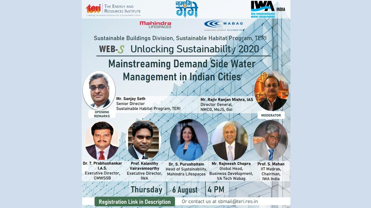 Webinar on Mainstreaming Demand Side Water Management in Indian Cities