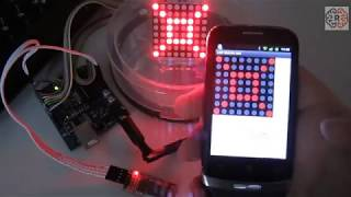 Arduino LED Matrix controlled over Bluetooth by Android Telephone -Smartphone