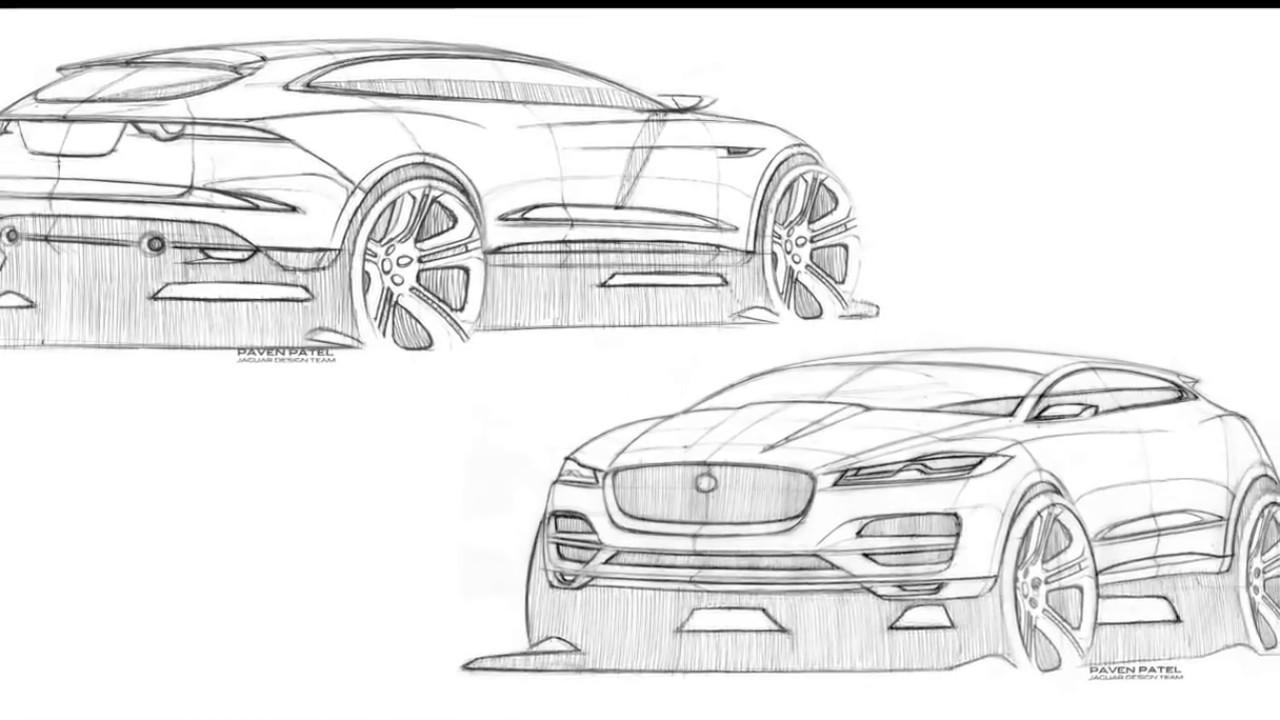 Jaguar F Pace Sketches Design Youtube