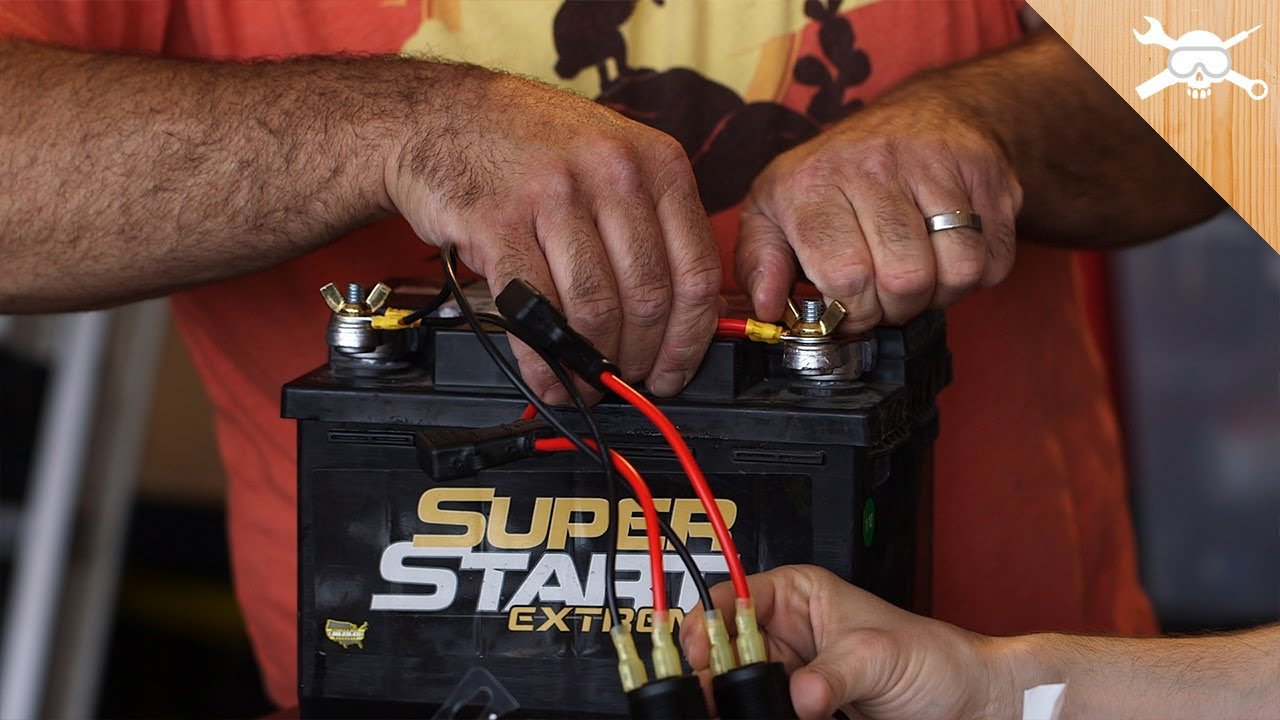 Turn A Car Battery Into An Emergency Power Charger Youtube