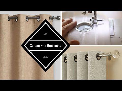 كيفية عمل ستار بحلق أو عوينات DIY Curtain with Grommets