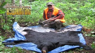 Skinning Black Bear for a Rug in the field