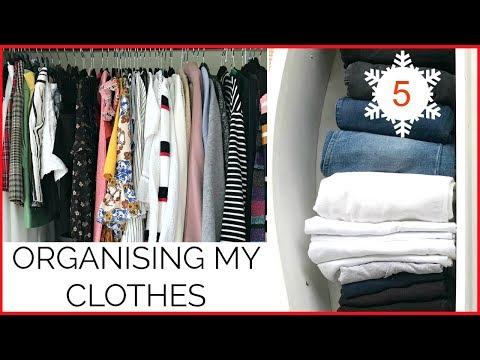 ORGANISING MY CLOTHES | KonMari | Vlogmas #5