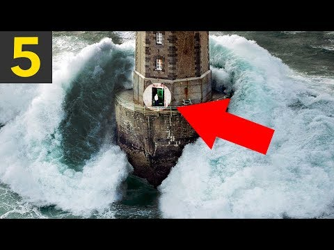Top 5 WAVES VS LIGHTHOUSES