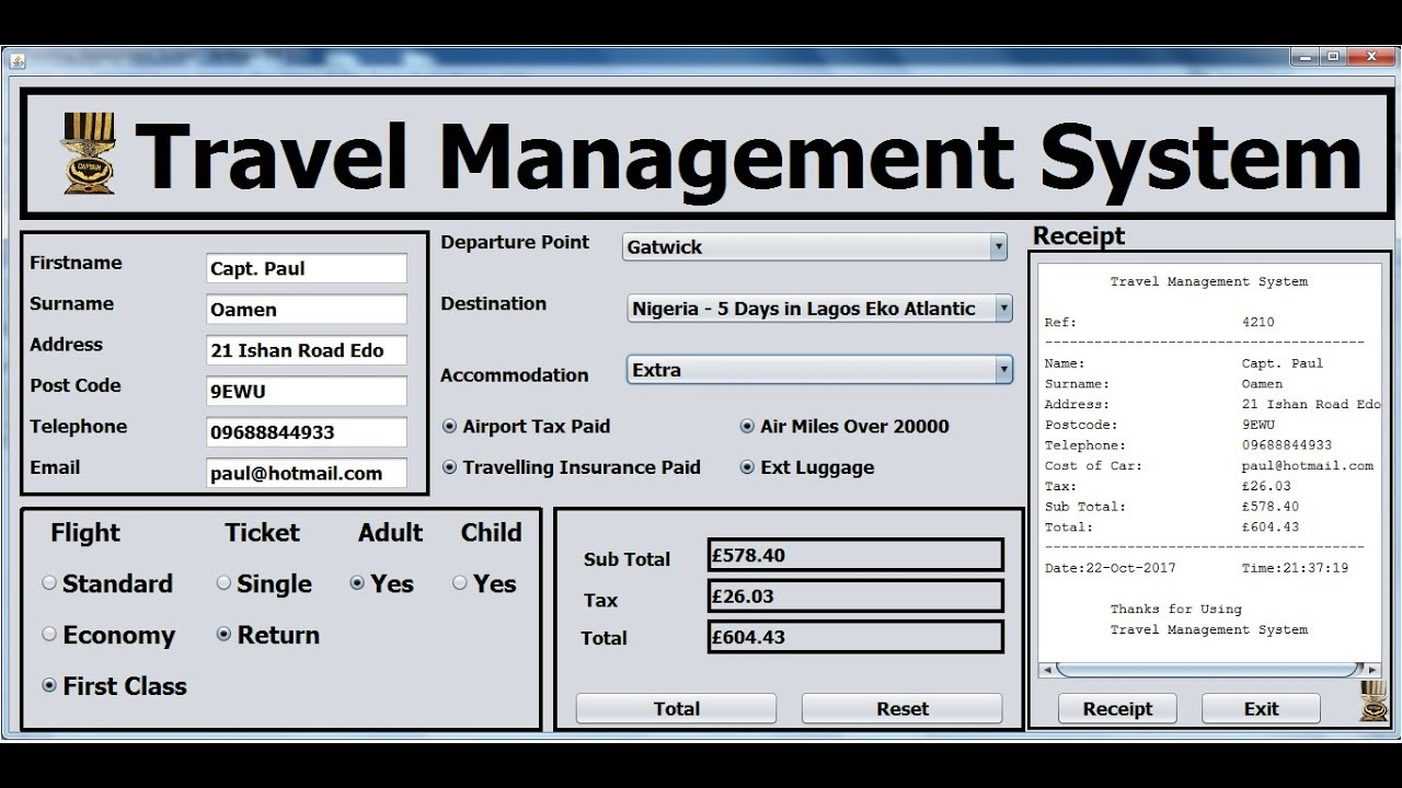 How To Create Travel Management System In Java Netbeans