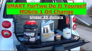 smart fortwo diy cheapest oil change for under 35 dollars using mobil 1
