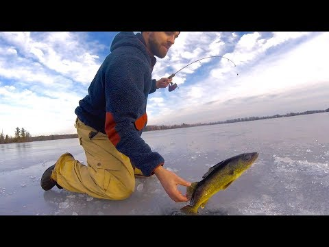 Eastern Ontario Walleye Fishing --- First Ice 2019
