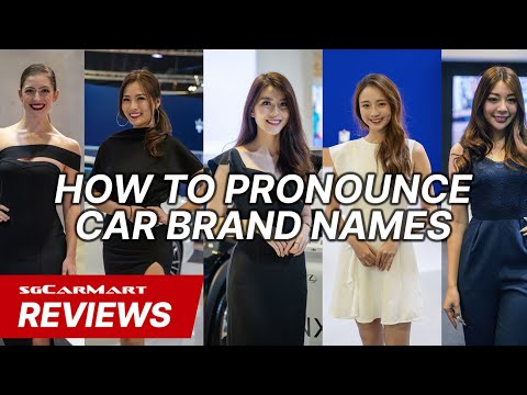 Singapore Motorshow Girls Pronounce Car Brand Names | sgCarMart Reviews