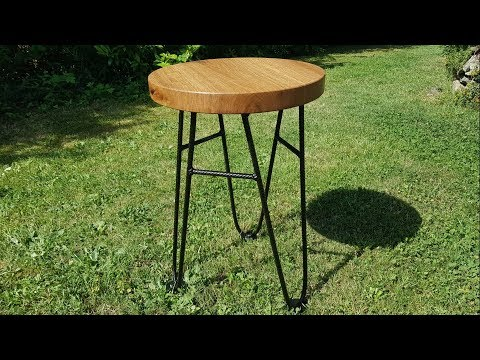 Building a Side Table out of Rebar and Oak