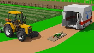 Crushed Farmer with Tractor Wheel - Field Accident | Simulation of field work on the farm / Traktor