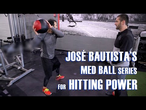 José Bautista's Med Ball Series For Hitting Power