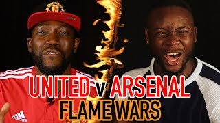 MANCHESTER UNITED V ARSENAL FLAME WARS 🔥| CHEEKYSPORT DAVE V JOEL | SPORF