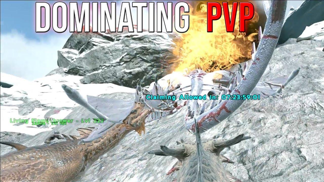DESTROYING SALTY PEOPLE ON WYVERNS - ARK VALGUERO 3-MAN PVP SERVERS #10