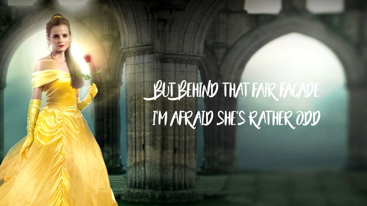 Beauty And The Beast Belle Lyrics On Screen Youtube