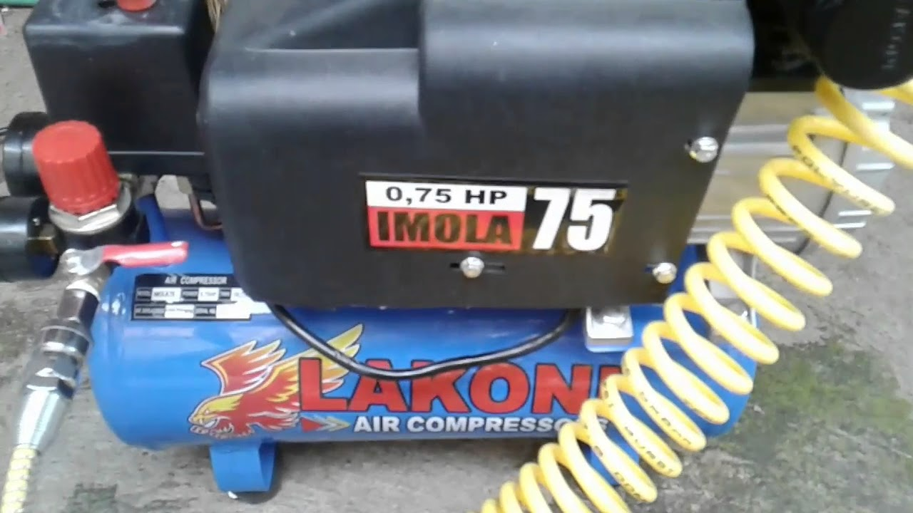 Kompresor Lakoni Imola 0 75 Hp Youtube