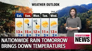 Nationwide rain tomorrow brings down temperatures _ 102518